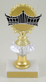Vector Crown Diamond Riser Trophy Small-Trophies-Schoppy's Since 1921