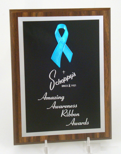 "Awareness Ribbon Plaque 6"" x 8""-Trophies-Schoppy's Since 1921"