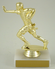 Flag Football Trophy On Marble Base-Trophies-Schoppy's Since 1921