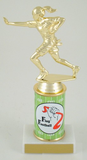 Flag Football Original Metal Roll Column Trophy-Trophies-Schoppy's Since 1921