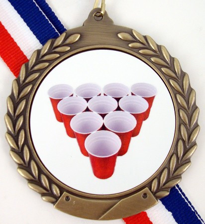 Beer Pong Rack Medal-Medals-Schoppy's Since 1921