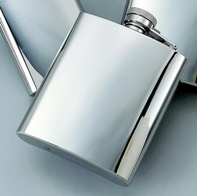 Bright Finish SS 8 oz Flask