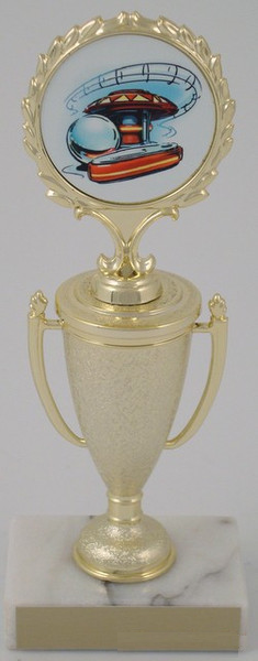 Pinball Logo on Cup-Trophies-Schoppy's Since 1921