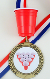 Mini Cup Beer Pong Rack Medal-Medals-Schoppy's Since 1921