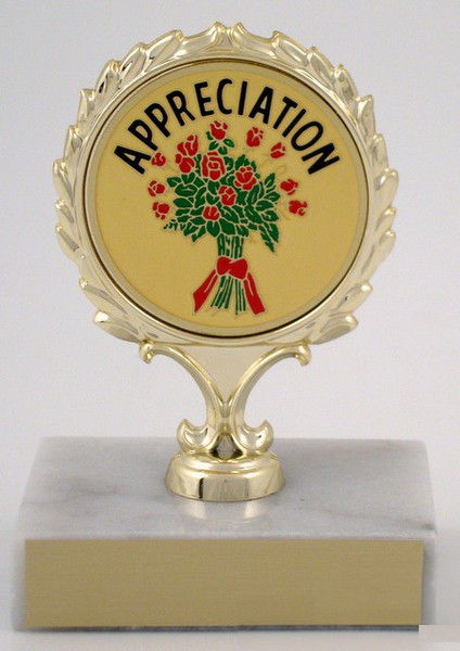 Appreciation Trophy On Marble Base