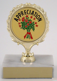 Appreciation Trophy On Marble Base-Trophies-Schoppy's Since 1921