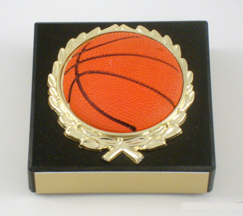 Basketball Paperweight with Relief Ball Logo - Black-Paperweight-Schoppy's Since 1921