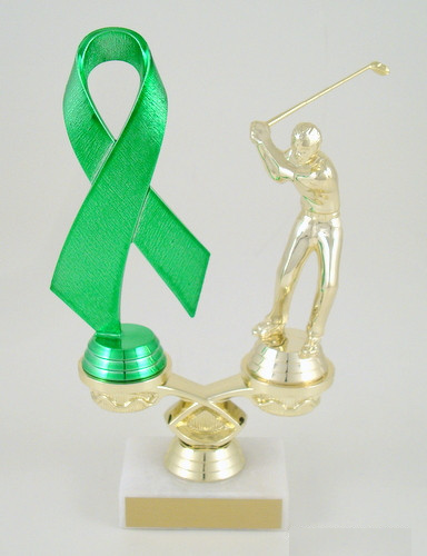 Awareness Ribbon Event Trophy - Golf