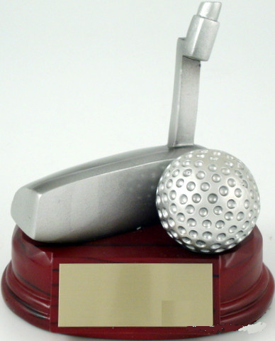 Golf Trophy Putter Resin