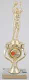 Basketball Riser Trophy on Marble Base-Trophies-Schoppy's Since 1921