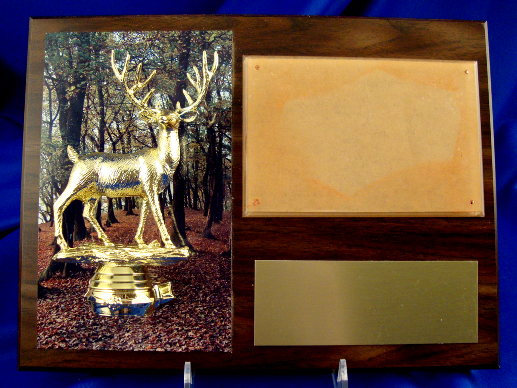 Deer Hunting Photo Plaque