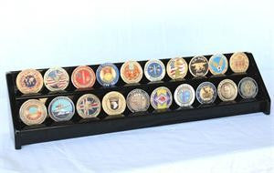 2 Row Coin Display Rack - Black-Display Case-Schoppy's Since 1921