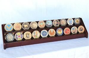 2 Row Coin Display Rack - Cherry-Display Case-Schoppy's Since 1921