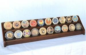 2 Row Coin Display Rack - Walnut-Display Case-Schoppy's Since 1921