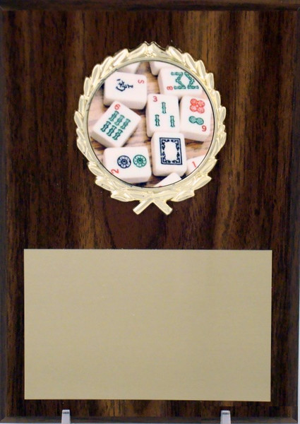 5x7 Plaque With Mah Jong Logo