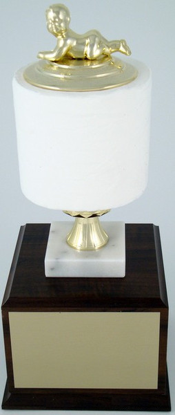 Toilet Paper Roll Perpetual Trophy - Baby-Trophies-Schoppy's Since 1921