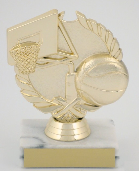 Basketball Theme Trophy on Marble Base-Trophies-Schoppy's Since 1921