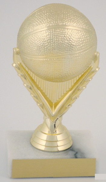 Basketball Trophy on Marble Base-Trophies-Schoppy's Since 1921