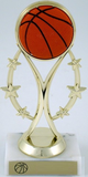 Basketball Trophy on Six-Star Riser-Trophies-Schoppy's Since 1921