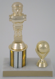 Foosball Trophy with Soccer Ball-Trophies-Schoppy's Since 1921