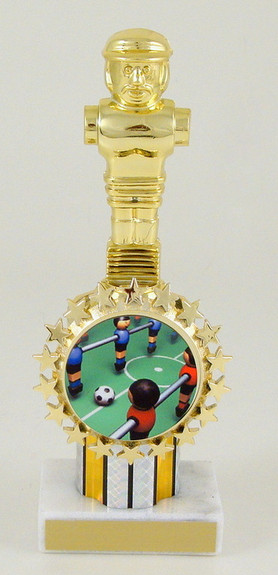 Foosball Round Column Logo Holder Trophy