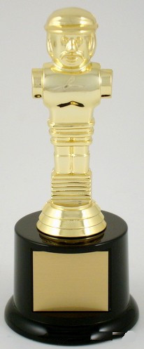 Foosball Trophy on Small Black Round Base