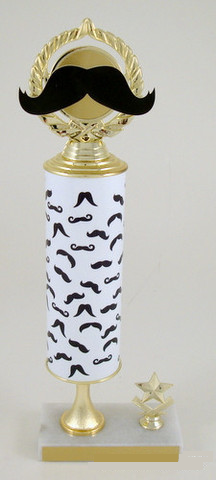 Mustache Grandmaster Custom Roll Column Trophy