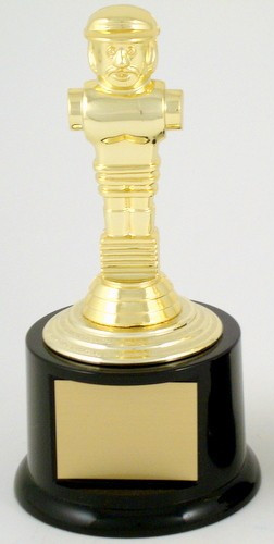 Foosball Trophy on Medium Black Round Base