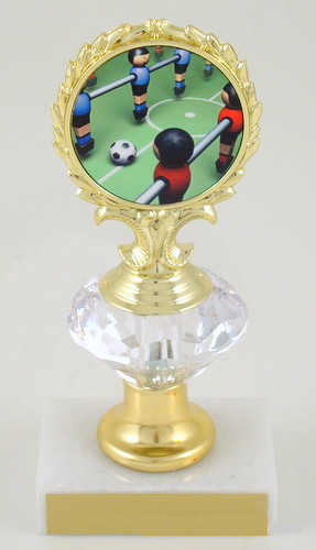 Foosball Logo Diamond Riser Trophy Small-Trophies-Schoppy's Since 1921