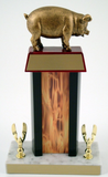 Pig Trophy with Black Column & Flaming Center - Schoppy Original-Trophies-Schoppy's Since 1921