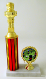 Foosball Column Trophy with Logo Trim-Trophies-Schoppy's Since 1921