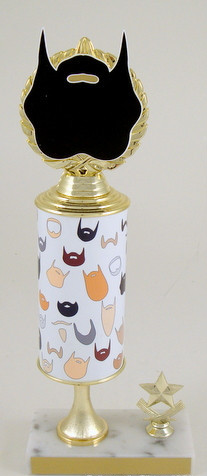 Beard Grandmaster Custom Roll Column Trophy