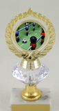 Foosball Logo Diamond Riser Trophy Medium-Trophies-Schoppy's Since 1921