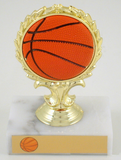 Basketball Trophy with Relief Ball Logo-Trophies-Schoppy's Since 1921