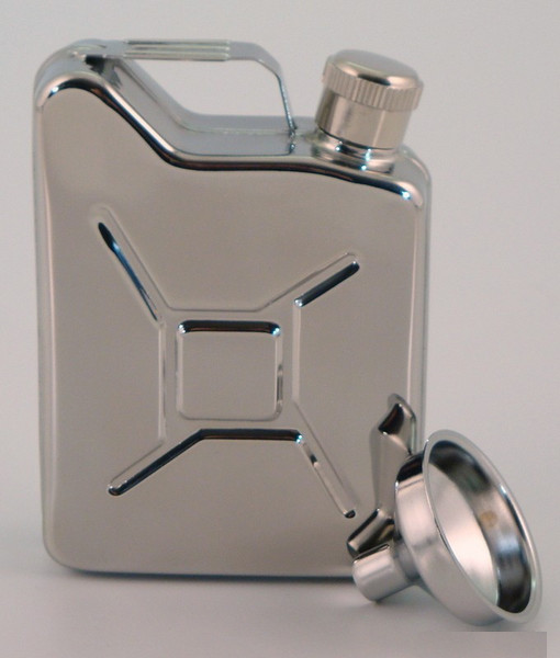 Bey-Berk Stainless Steel Flask Jerry Can