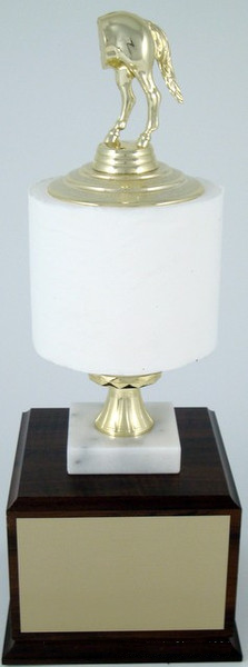 Toilet Paper Roll Perpetual Trophy - Horse's Rear-Trophies-Schoppy's Since 1921