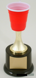 Mini Beer Pong Stem Riser Trophy on Black Round Base-Trophies-Schoppy's Since 1921