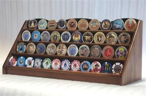 4 Row Coin Display Rack - Walnut-Display Case-Schoppy's Since 1921
