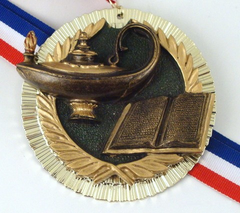 Big Lamp of Learning Resin Medal-Medals-Schoppy's Since 1921
