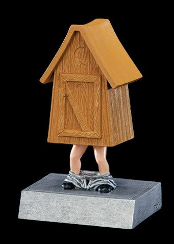 Outhouse Bobblehead Resin Trophy