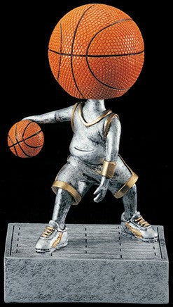 Basketball Bobblehead Resin Trophy-Trophies-Schoppy's Since 1921