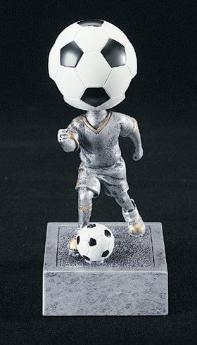 Soccer Bobblehead Resin Trophy-Trophies-Schoppy's Since 1921