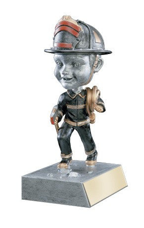 Bobblehead Resin Trophy Fireman-Trophies-Schoppy's Since 1921