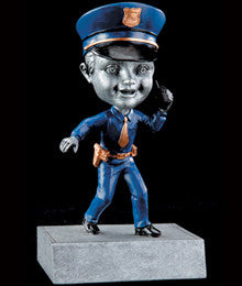 Bobblehead Resin Trophy Policeman-Trophies-Schoppy's Since 1921