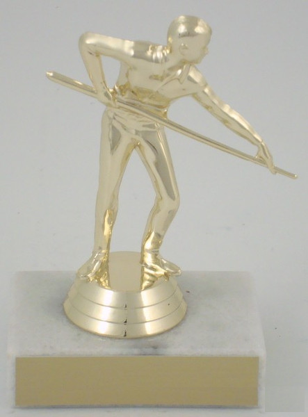 Billiards Trophy On Marble Base