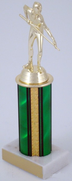 "Billiards Trophy on 4"" Column"