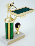 Billiards Trophy with Table-Trophies-Schoppy's Since 1921