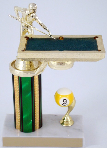 Billiards Trophy with Table - 9 Ball-Trophies-Schoppy's Since 1921