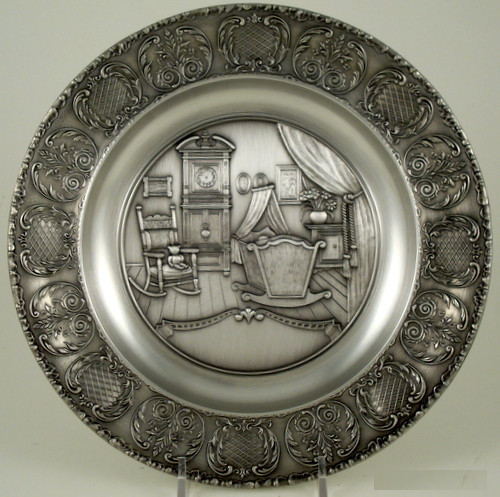 Birth Plate Pewter