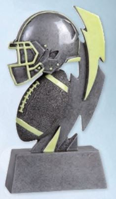 Glow In The Dark Football Resin Trophy